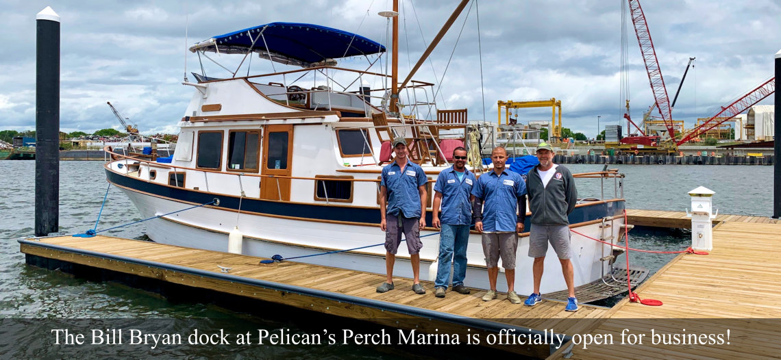 The Bill Bryan Dock at Pelican's Perch Marina is now open for business.